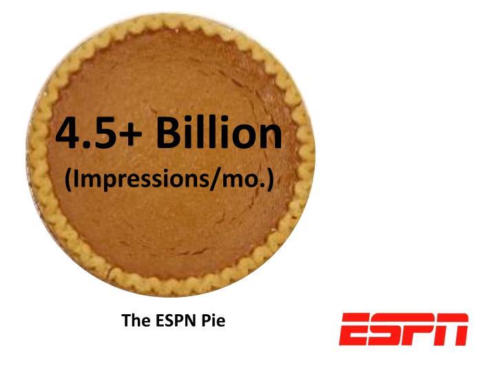 4.5+ Billion
