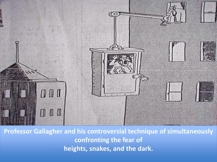 Professor Gallagher and his controversial technique of simultaneously confronting the fear of