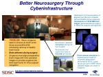 better neurosurgery through cyberinfrastructure