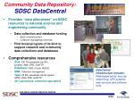 community data repository sdsc datacentral