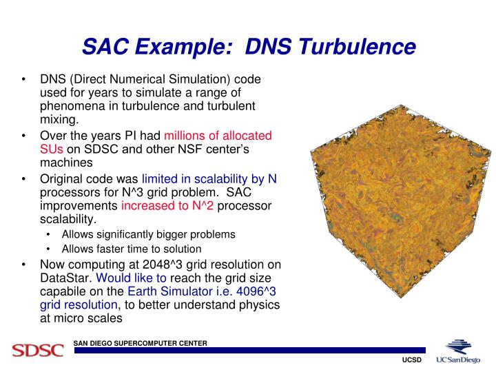 SAC Example:  DNS Turbulence