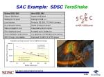 sac example sdsc terashake