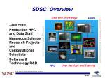 sdsc overview