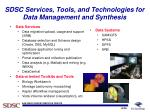 sdsc services tools and technologies for data management and synthesis