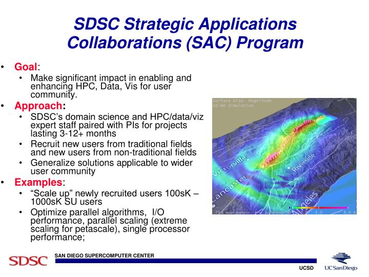SDSC Strategic Applications