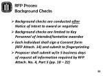 rfp process background checks1
