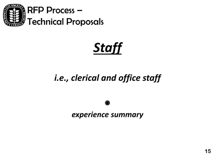 RFP Process –