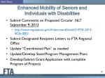 enhanced mobility of seniors and individuals with disabilities12