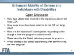 enhanced mobility of seniors and individuals with disabilities13