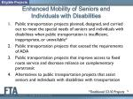 enhanced mobility of seniors and individuals with disabilities3