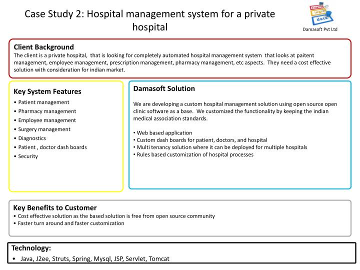 Case study 2 hospital management system for a private hospital