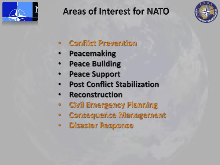 Areas of Interest for NATO