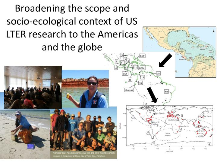 Broadening the scope and socio-ecological context of US LTER research to the Americas and the globe