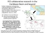 fce collaborative research in the caribbean basin and beyond
