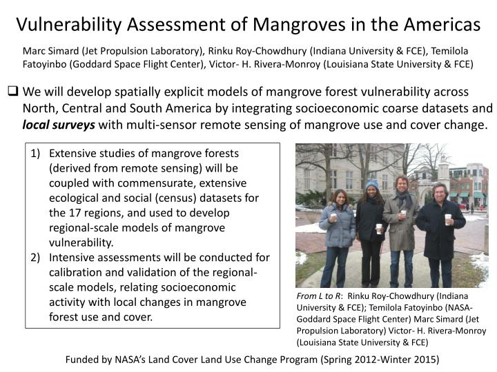 Vulnerability Assessment of Mangroves in the Americas