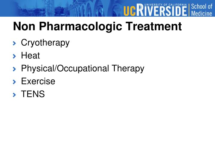 Non Pharmacologic Treatment