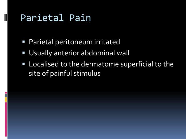 Parietal Pain