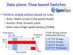 data plane flow based switches