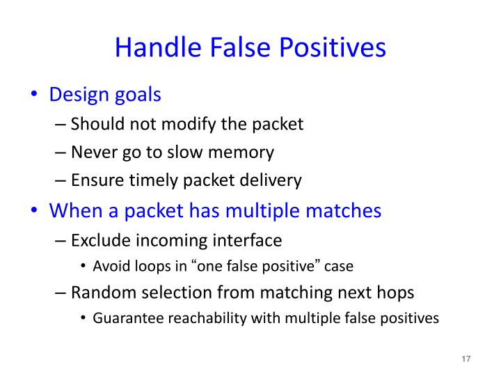 Handle False Positives