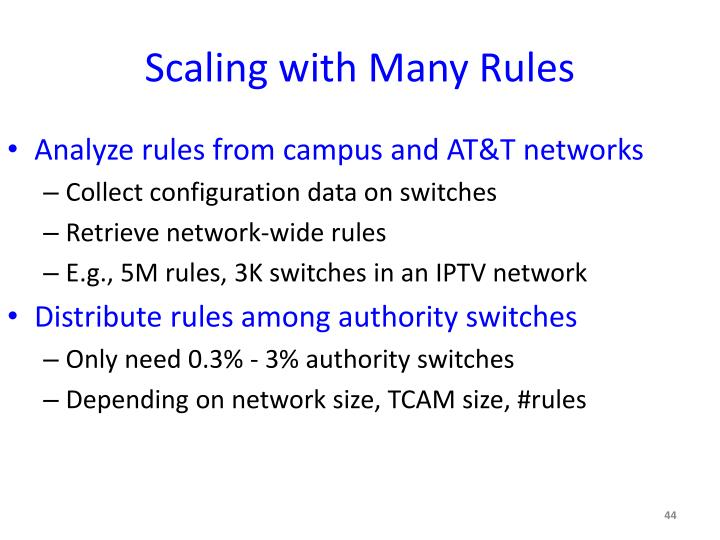 Scaling with Many Rules
