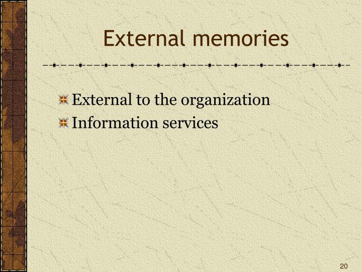 External memories