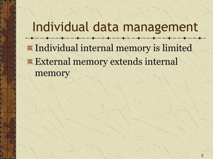 Individual data management