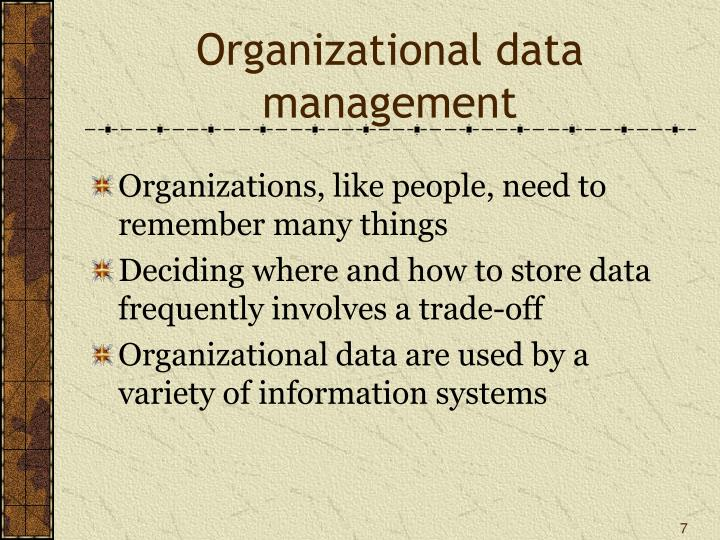 Organizational data management