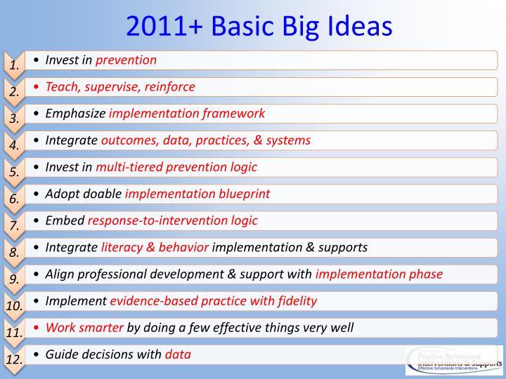 2011+ Basic Big Ideas