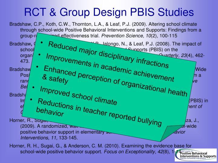 RCT & Group Design PBIS Studies