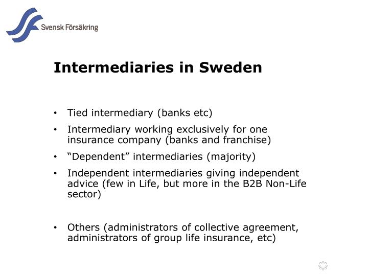 Intermediaries in sweden