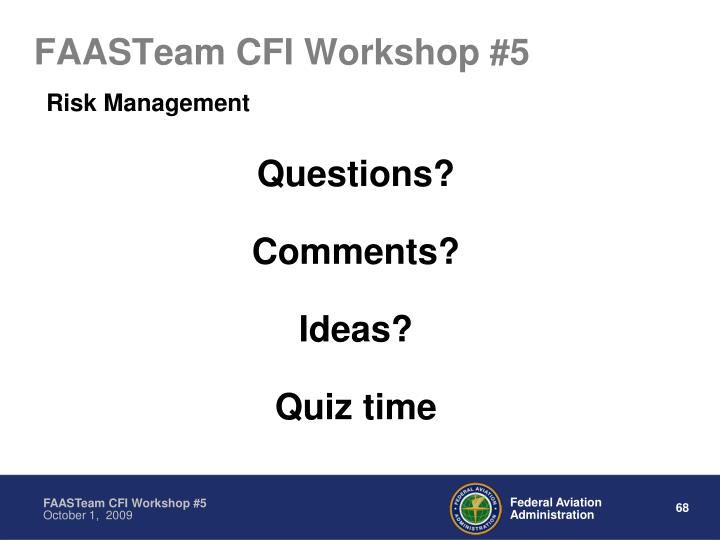 FAASTeam CFI Workshop #5