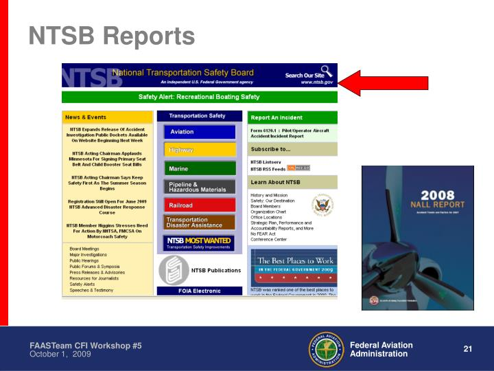 NTSB Reports