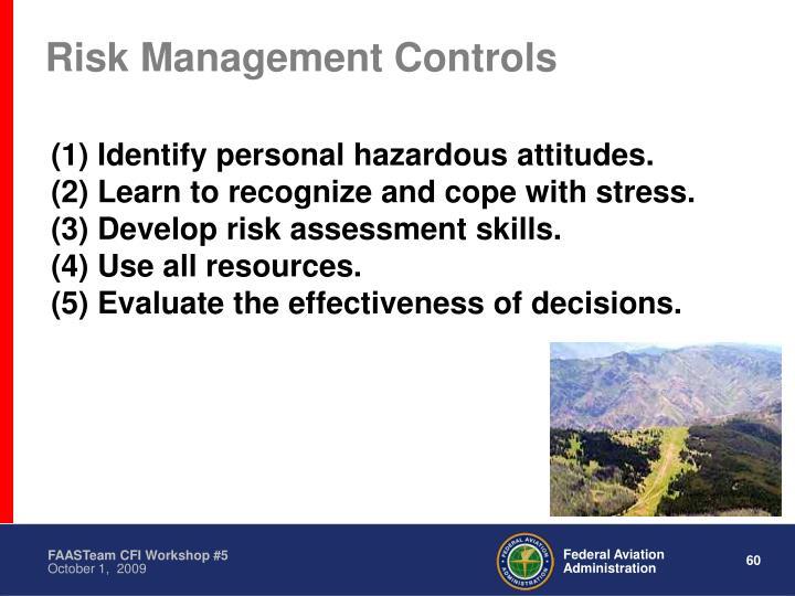 Risk Management Controls