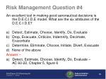 risk management question 41