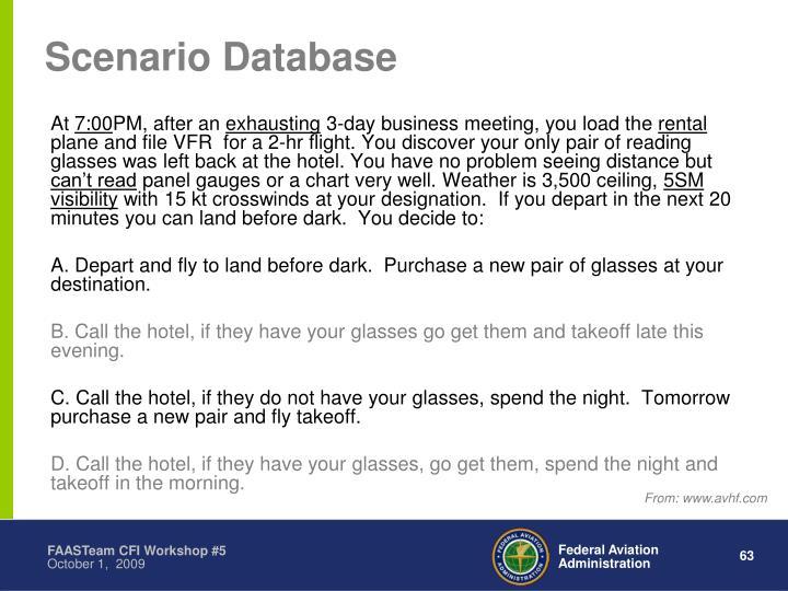 Scenario Database