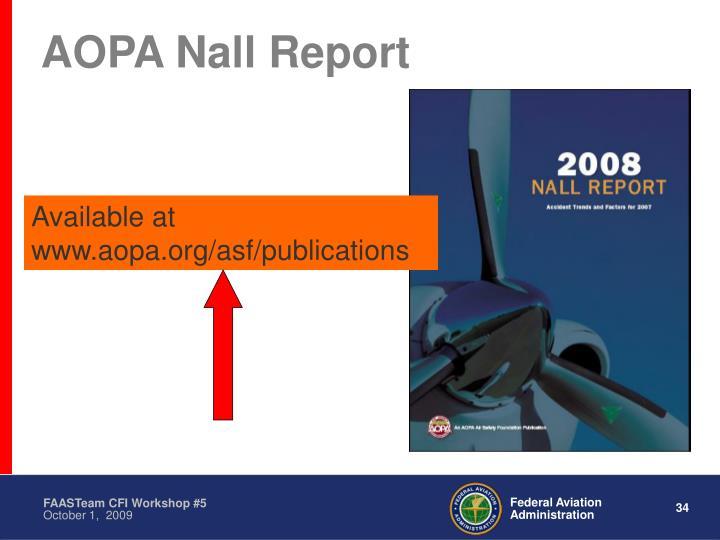 AOPA Nall Report