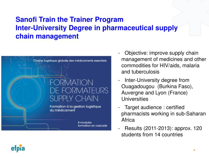 Sanofi Train the Trainer Program