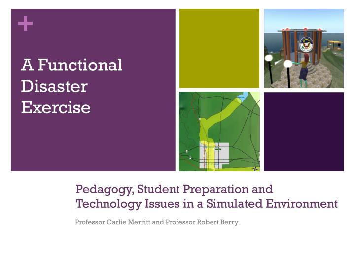 Pedagogy student preparation and technology issues in a simulated environment