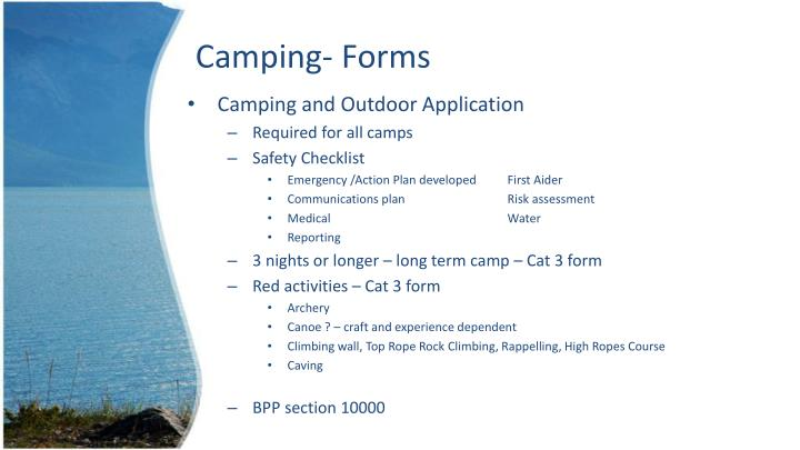 Camping- Forms