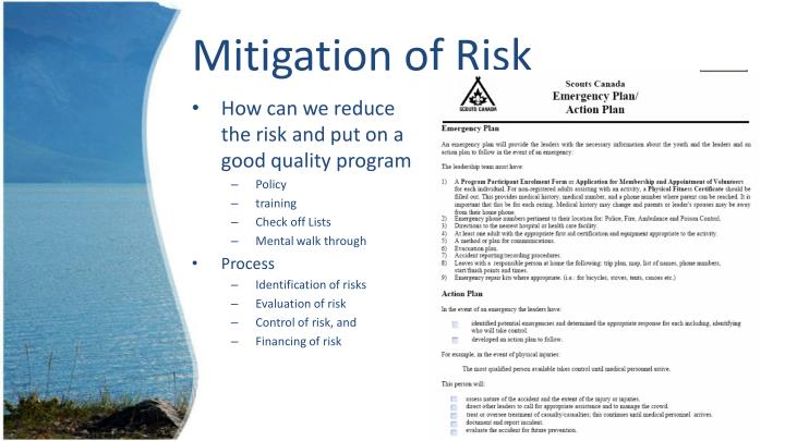Mitigation of Risk