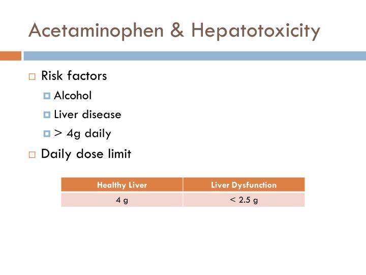 Acetaminophen & Hepatotoxicity