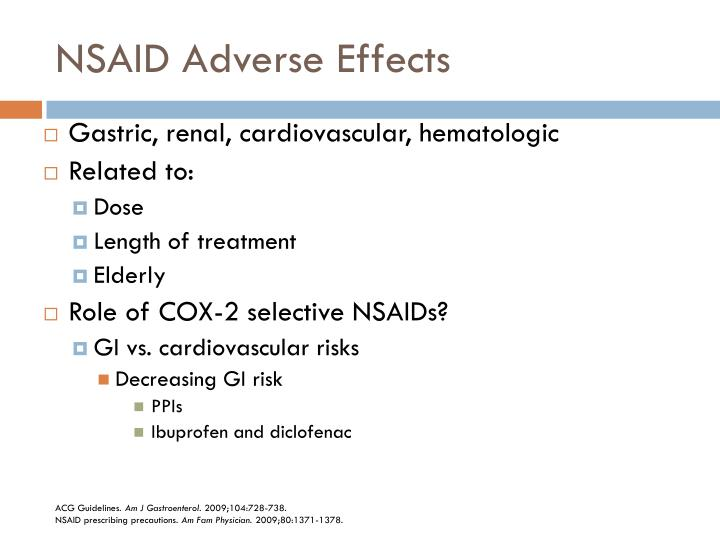 NSAID Adverse Effects