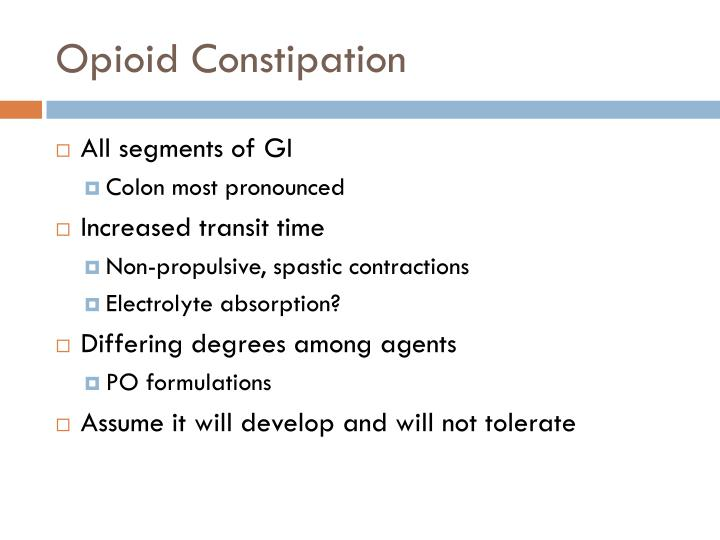 Opioid Constipation
