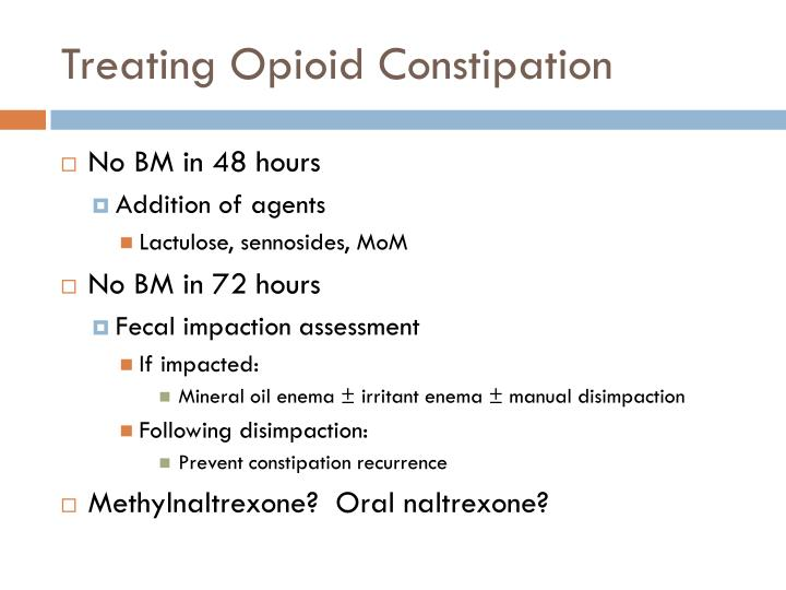 Treating Opioid Constipation