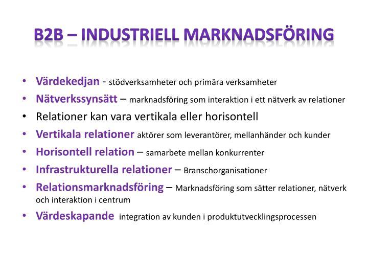 B2B – Industriell marknadsföring
