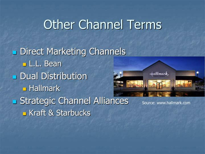 Other Channel Terms