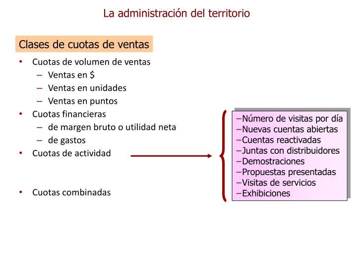 La administración del territorio