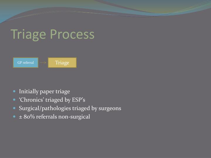 Triage Process