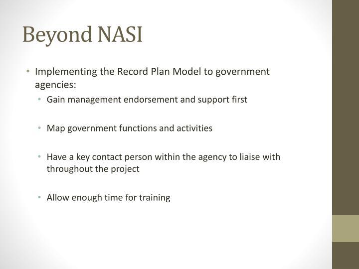 Beyond NASI