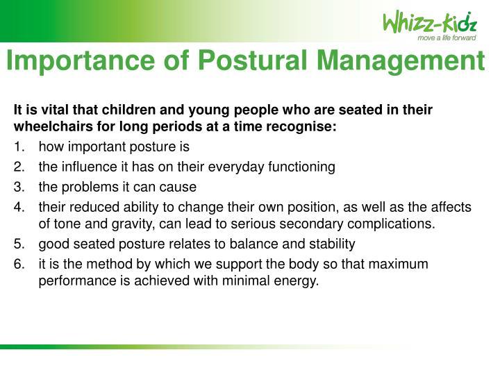 Importance of Postural Management